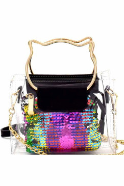 SQUARE SEQUIN Blk