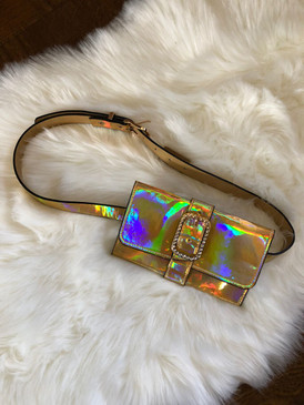 STONED WAIST POUCH Gold Holo