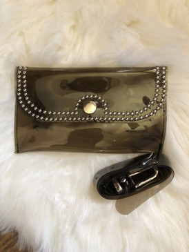STUDDED WAIST POUCH Charcoal