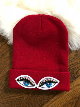 EYES ON ME BEANIE Dk Red