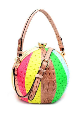 BALL PURSE Neon Multi