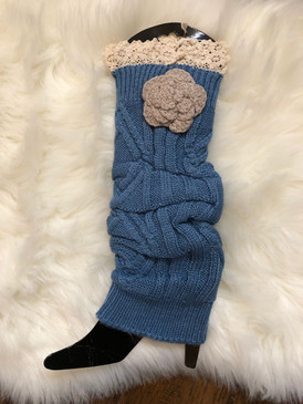 LEG WARMER Blue Flower