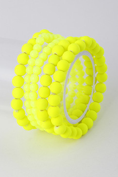 COLOR BALLS Bracelet Neon Yellow