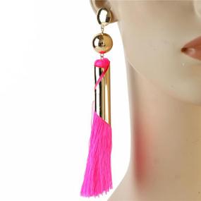 TASSEL EARRING Neon Pink