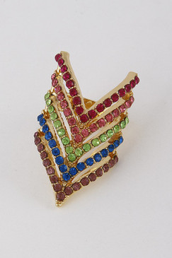 CHEVRON RING Multi