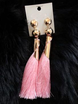 TASSEL EARRING Pink