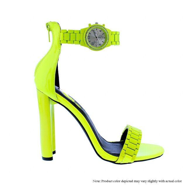WATCH HEELS Neon Yellow - THE WARDROBE