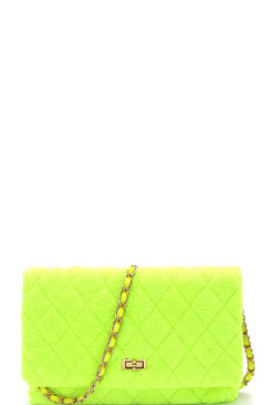 BABE PURSE Neon Yellow