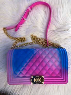 PINK MULTI JELLY PURSE