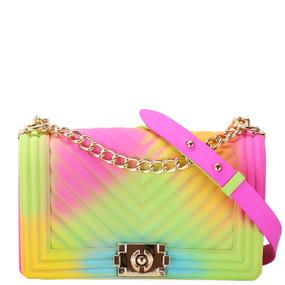 RAINBOW JELLY PURSE CHEVRON