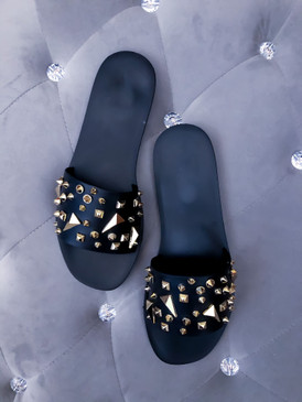 STUDDED JELLY Black