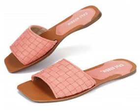 SQUARE TOE SLIDES Blush