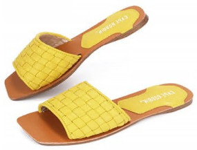 SQUARE TOE SLIDES Yellow