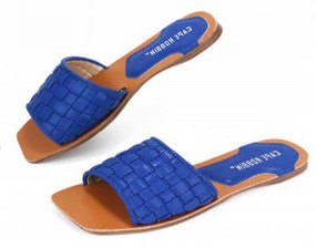 SQUARE TOE SLIDES Blue
