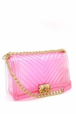 CLEAR JELLY PURSE Pink