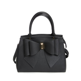 BOW SATCHEL Black
