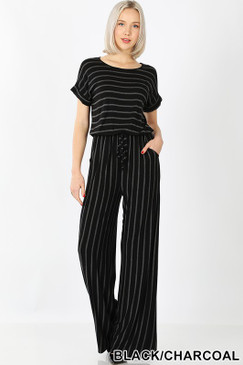 DEE JUMPSUIT BLACK CHAR