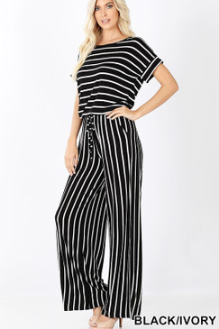 DEE JUMPSUIT BLACK IVORY