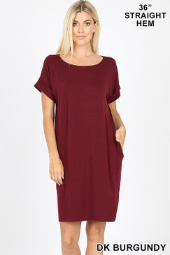 2020 CHILL DRESS DK BURGUNDY