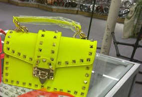 TREASURE CLUTCH Neon Yellow