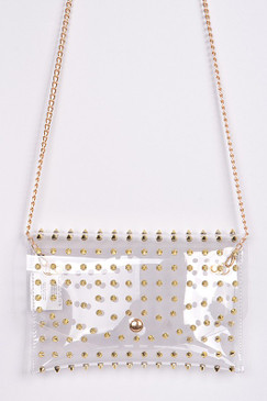 CLEAR STUDDED CLUTCH SM