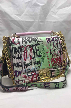 PINK GRAFFITI CROSS BODY