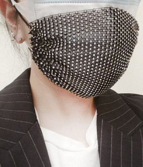 BLING MASK COVER Black
