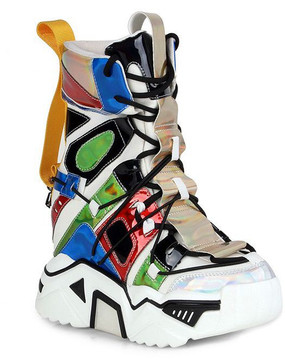 MULTI SWAG SNEAKERS White