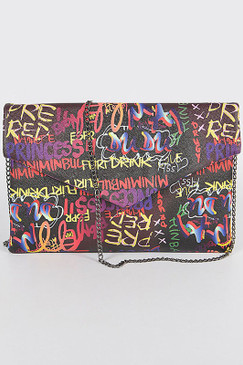 GRAFFITI CLUTCH Black