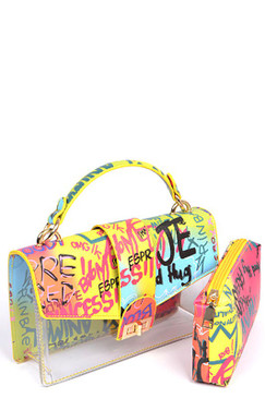 GLAM GRAFFITI RAINBOW Bag