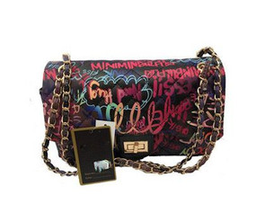 BLACK MULTI GRAFFITI  BAG