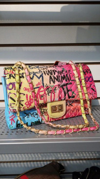 CHEVRON BIG GRAFFITI RAINBOW BAG