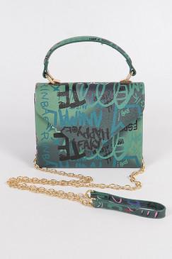 GRAFFITI BOXY SWING BAG Green