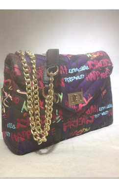 FAB GRAFFITI BAG Black Multi