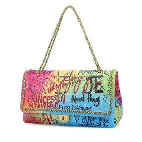 JUMBO RAINBOW MULTI GRAFFITI BAG