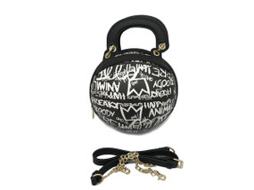 BALL BLACK GRAFFITI  BAG