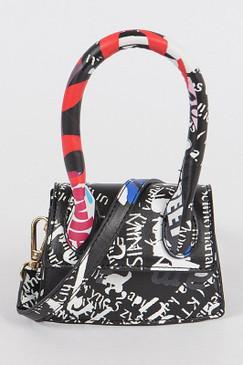 Single Handle Mini Graffiti Bag