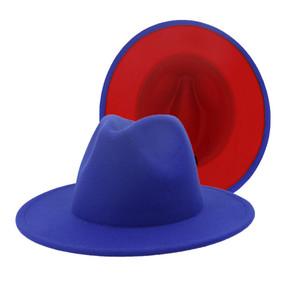 ROYAL RED FEDORA HAT
