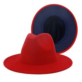 RED BLACK FEDORA HAT