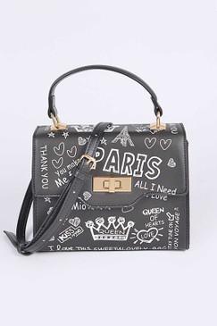 Paris Graffiti Swing Bag