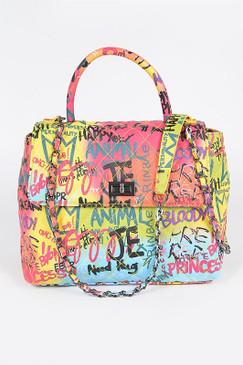 Graffiti Top Handle Bag