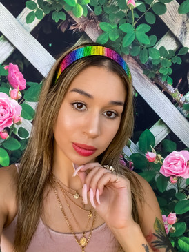 Lala Rainbow Stretch Headband