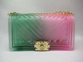 Pink and Green Jelly Purse
