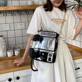 Pay Phone Purse Black