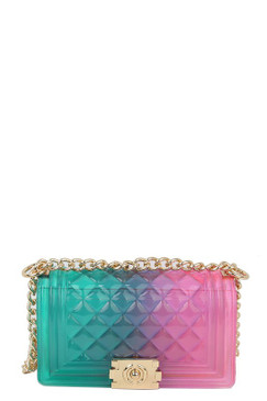 Pink and Green Mini Jelly Purse