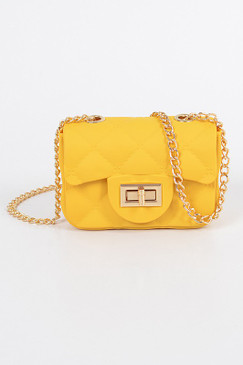 Matte Mini Jelly Cross Body Mustard