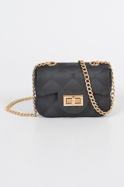 Matte Mini Jelly Cross Body Black