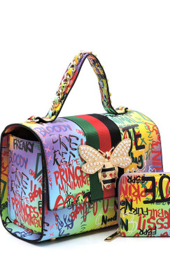 Queen Graffiti Bag Pur