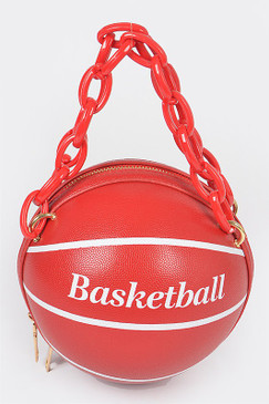 Chain Basketball Bag Red