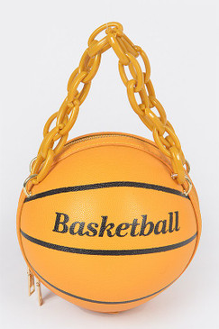 Chain Basketball Bag Mustard